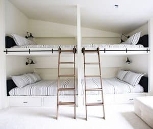 guest sleeping areas make entertaining easy with Big Twig Homes