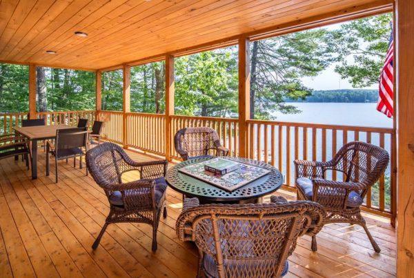 Katahdin cedar log home porch