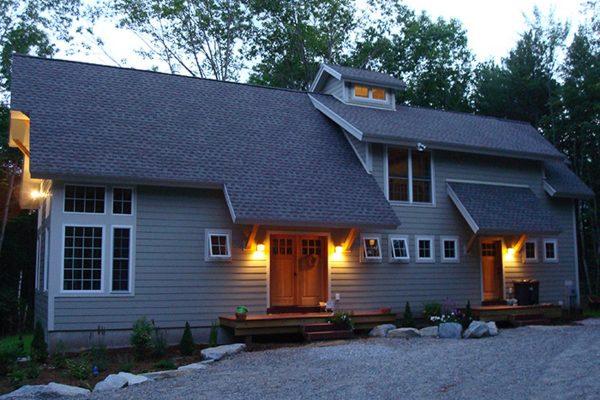 Exterior of a Katahdin Cedar Log Home