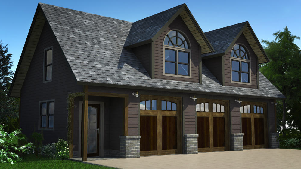 Carriage house floor plan big twig homes cedar log for Carriage house plans cost to build