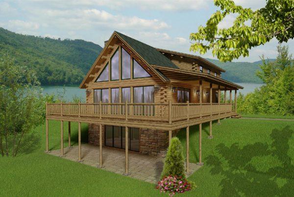 Rendering of the Kodiak Log Home.