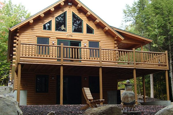 The Peacock home is a beautiful example of log home construction.