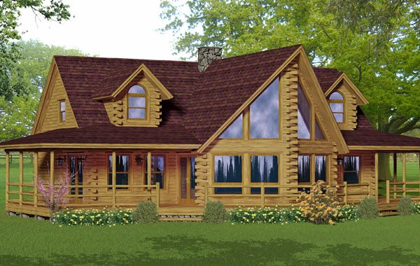 Multi level log home