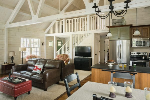 The open floor plan of the Rosenthal gives it an open feel.