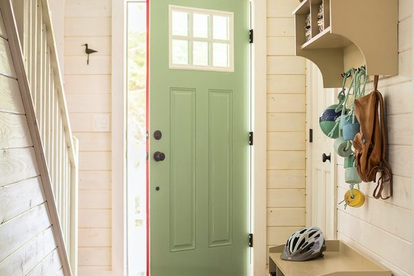 An image of the front door of a home.