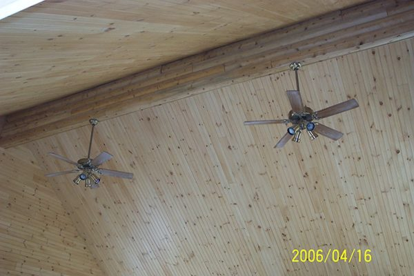 Two ceiling fans in the Winslow home.