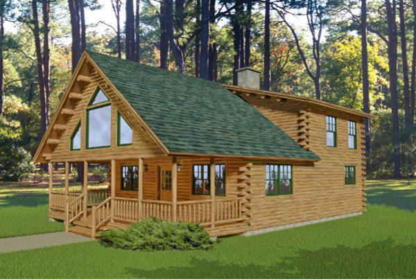 Rendering of the Denali log home.