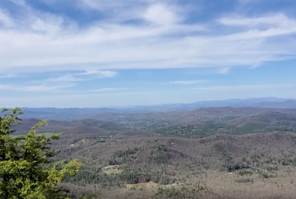 distant shot of mountains in Henderson County