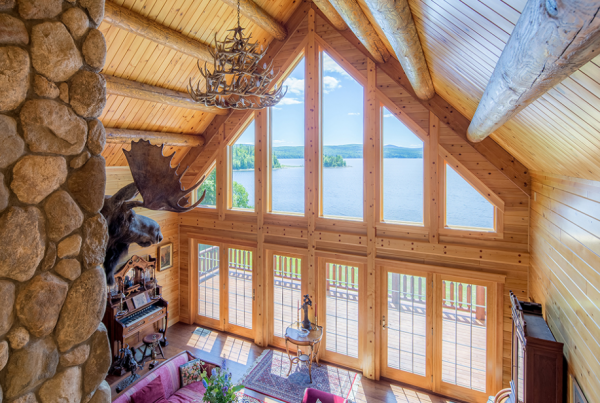 Big Twig Homes and Katahdin Cedar Log Home with Northern White Cedar