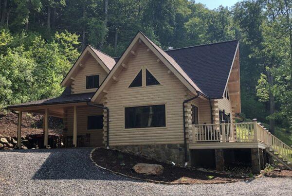 Katahdin Cedar Log Home Package, From Big Twig Homes